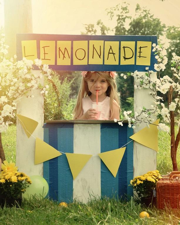 Little Girl Selling.